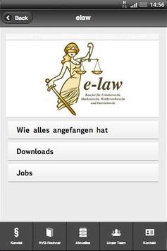 Kanzlei e-law apk screenshot