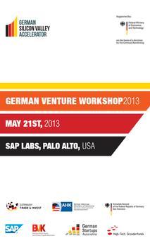 German Venture Workshop 2013 poster