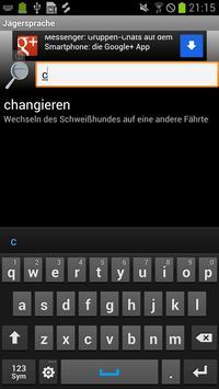 Jägersprache apk screenshot
