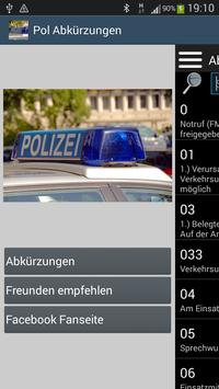 Polizei Abkürzungen poster