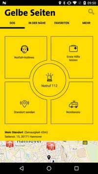 Gelbe Seiten Notfall-App poster