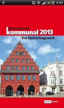 Deutschland kommunal 2013 poster