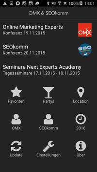 SEOkomm OMX Konferenz Programm poster