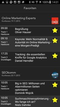 SEOkomm OMX Konferenz Programm apk screenshot