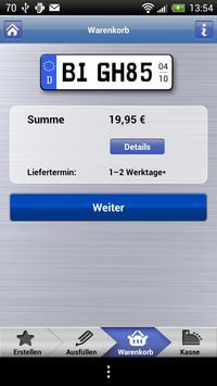 Gutschild Wunschkennzeichen apk screenshot