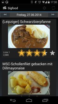 SIGFOOD (Mensa Uni Erlangen) apk screenshot
