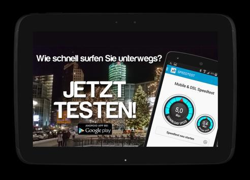 Mobile WIFI & DSL Speedtest poster