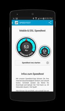 Mobile WIFI & DSL Speedtest apk screenshot