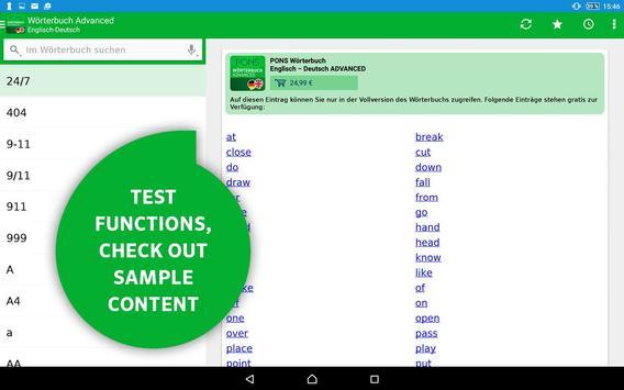 PONS Dictionary Library apk screenshot