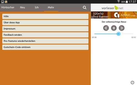 vorleser.net apk screenshot