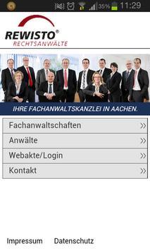 REWISTO Rechtsanwälte apk screenshot