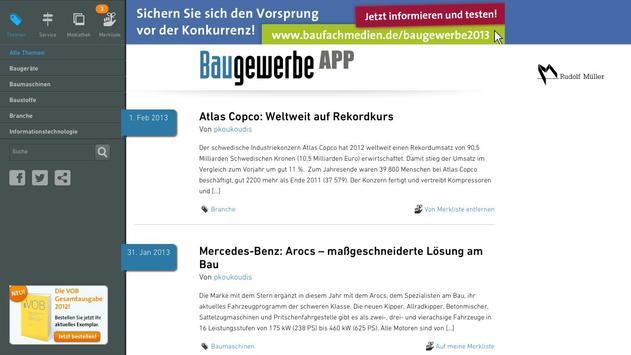Baugewerbe APP apk screenshot
