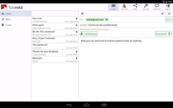 Tutanota: simply secure emails apk screenshot