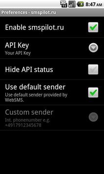 WebSMS: smspilot.ru Connector apk screenshot