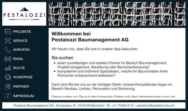 Pestalozzi Baummanagement AG poster