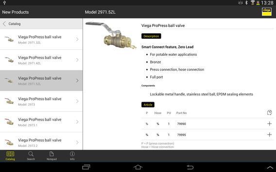 Viega LLC Catalog App apk screenshot