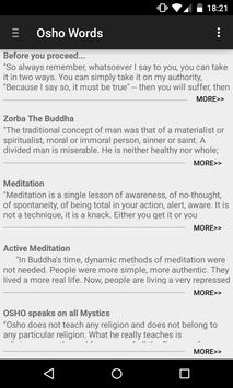 Osho Words poster