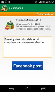 Felicitaciones apk screenshot