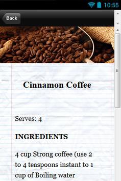 Delicious Coffee Recipes apk screenshot