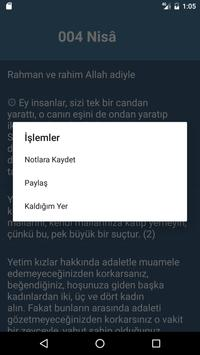 Kur'an-ı Kerim Türkçe Meal apk screenshot