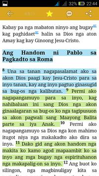 Hiligaynon Bible - Offline apk screenshot