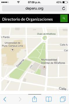 ONG directorio apk screenshot