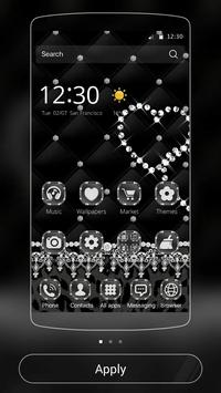 Black Lace Leopard Theme apk screenshot