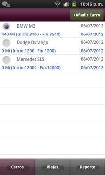 Diario de Millaje apk screenshot