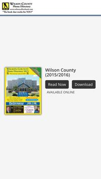 Wilson County Phone Directory poster