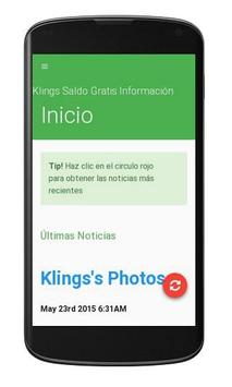 Klings Saldo Gratis Info apk screenshot