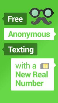 Mustache Anonymous Texting SMS poster