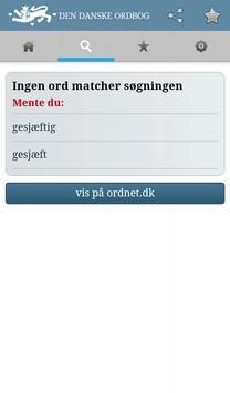 Den Danske Ordbog apk screenshot