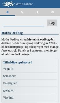 Moths Ordbog poster