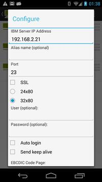 Mocha TN3270 Lite apk screenshot