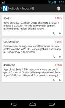 Notigola (SMS Filter) apk screenshot