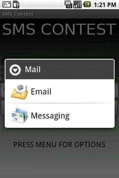 SMSContest apk screenshot