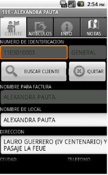 DroidPedidos apk screenshot