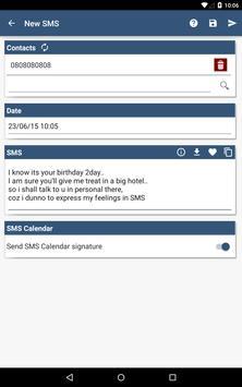 SMS Calendar apk screenshot