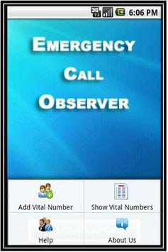 Emergency Call Observer apk screenshot