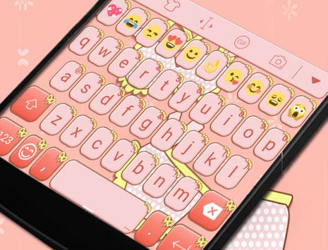 Pink Cat Theme -Cute Keyboard poster