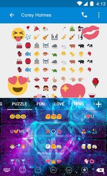 Galaxy Flash Emoji Keyboard apk screenshot