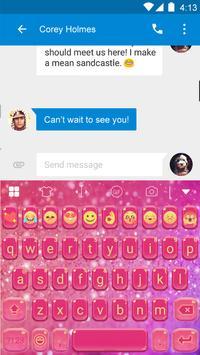Glitter Heart Emoji Keyboard apk screenshot
