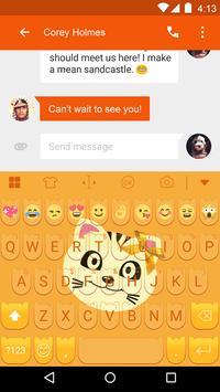 Hello Barnny Emoji Keyboard apk screenshot