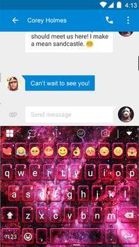 Space Dust Emoji Keyboard -Gif apk screenshot