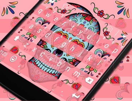 Sugar Skull Eva Keyboard -Gifs poster