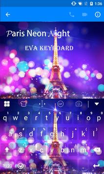 Paris Night Eva Keyboard -Gifs apk screenshot