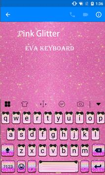 Pink Glitter Eva Keyboard -Gif apk screenshot