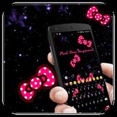 Pink Bow Glitter Keyboard icon