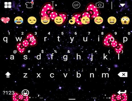 Pink Bow Glitter Keyboard apk screenshot