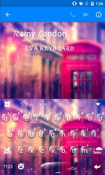 Rainy London Eva Keyboard -Gif apk screenshot